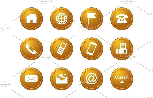Contact Icons in Color Version