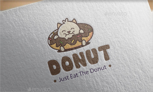 Cool Donuts Logo Template