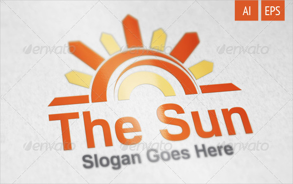 Corporate Sunset Logo Template
