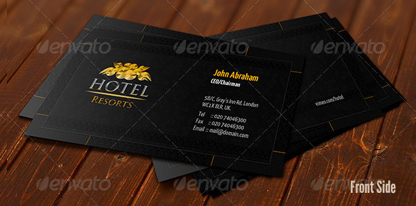 Creative Hotel or Resorts Business Card Template