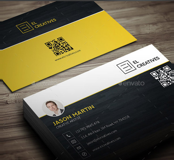 Creative Wooden Freelancer Business Card Design