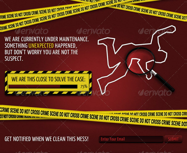 Crime Scene Coming Soon Page Template