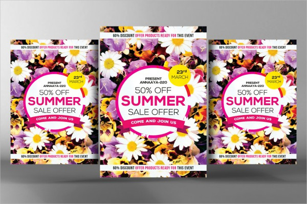 Custom Summer Sales Flyer Template