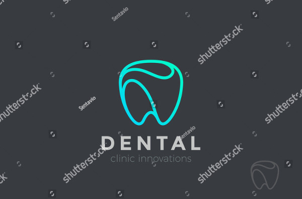 Dental Clinic Logo Tooth Abstract Design