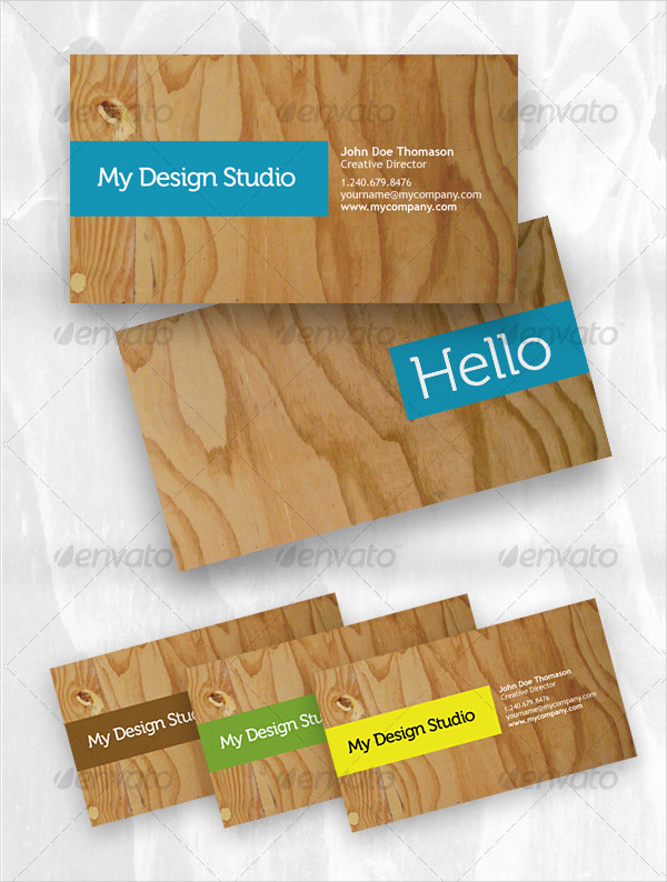 Designer Business Card in Plywood Style