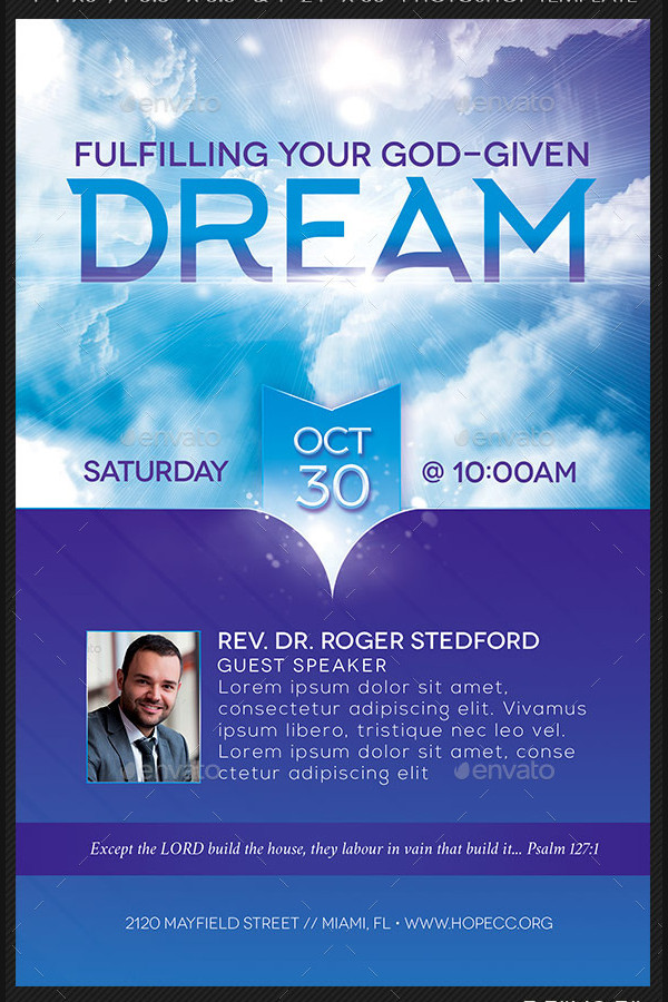 Dream Church Flyer or Poster Template