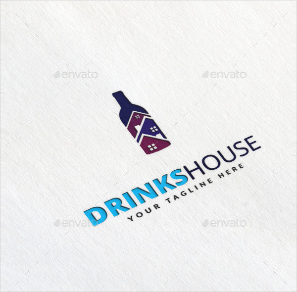 Drinks House Logo Template