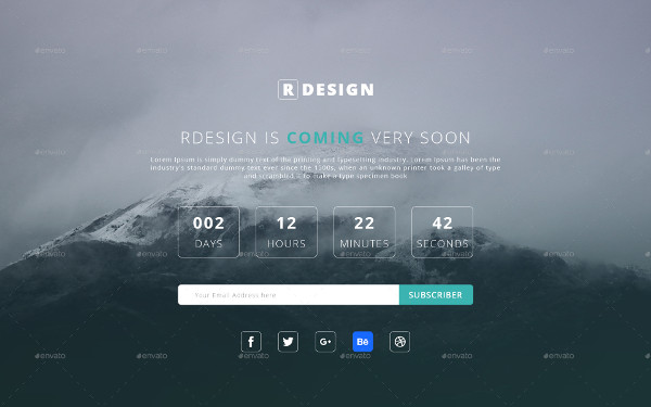 Elegant Coming Soon Page Template