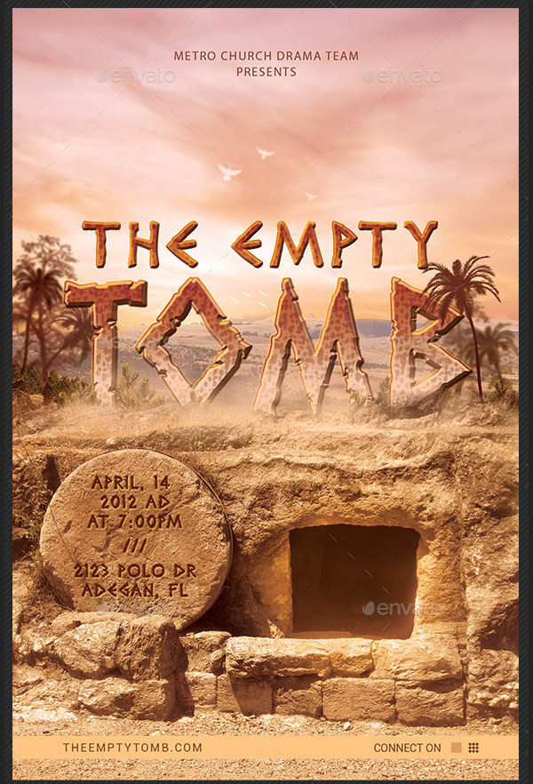 Empty Tomb Church Flyer or Poster Template
