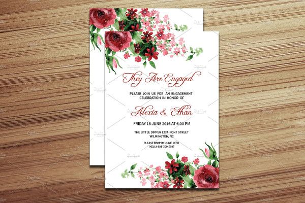 Engagement Dinner Party Invitation Template