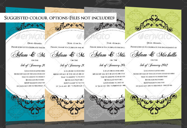 Engagement Invite with Flourishes