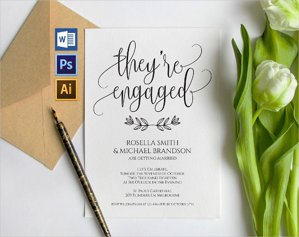 Engagement Save the Date Template
