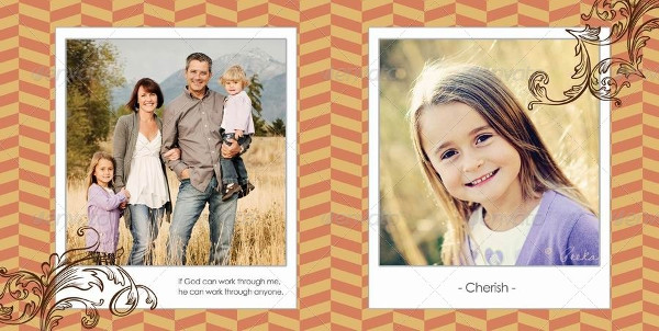 Cool Family Photo Album InDesign Template