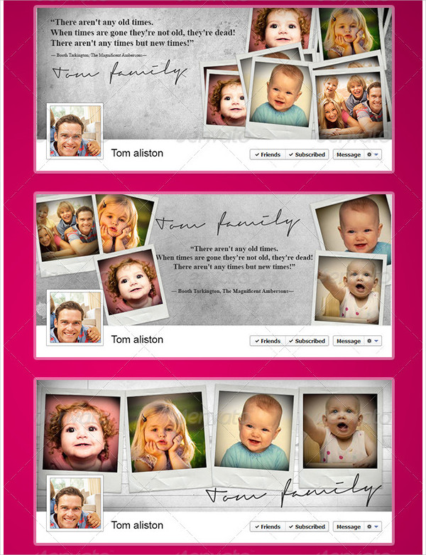 Family Portrait Memory & Quote Timeline Album