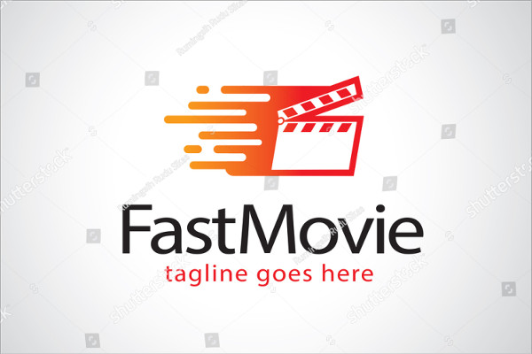 Fast Movie Company Logo Template Design