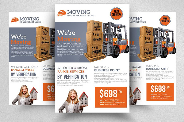 Decorative Moving House Service Flyer Template
