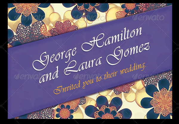 Floral Style Engagement Party Invitation Template