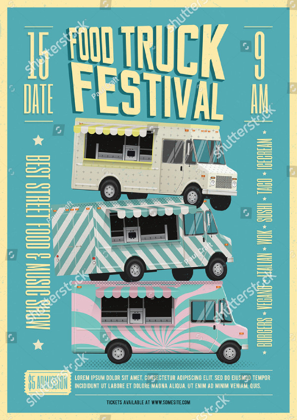 21  food truck flyer templates