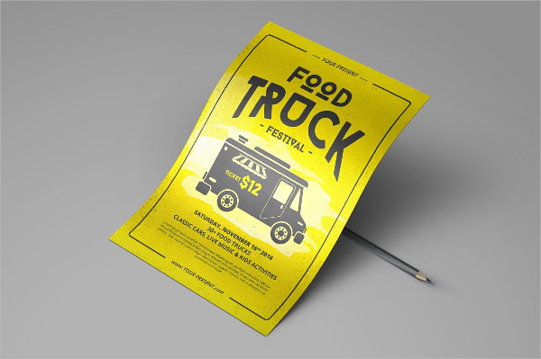 Printable Food Truck Party Flyer Template