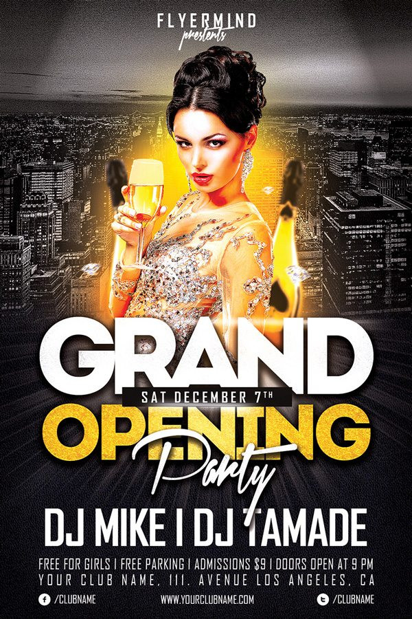 Free Grand Opening Party Flyer Template