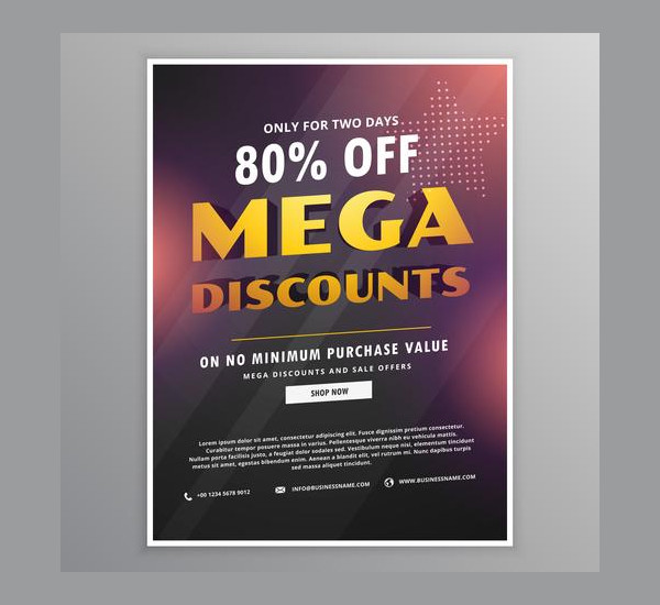 Free Mega Discounts Sale Flyer Design Template