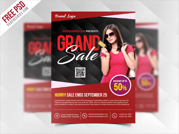 Free PSD Grand Sale Flyer Template