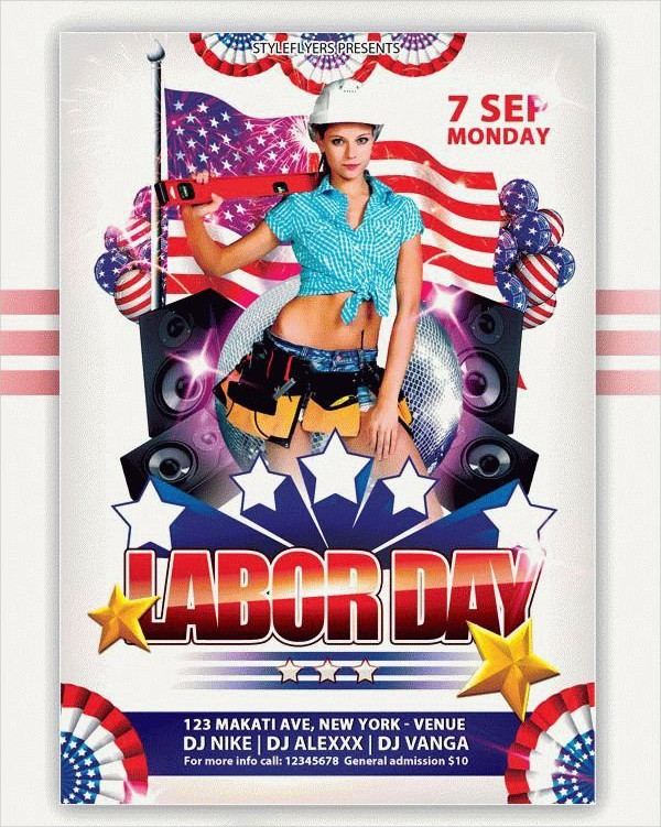Free PSD Labor Day Flyer Template