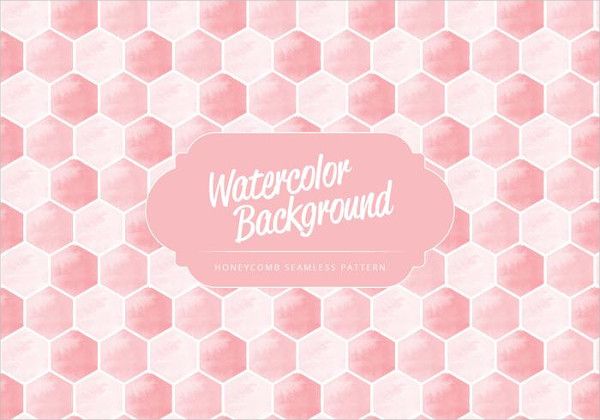 Free Vector Watercolor Honeycomb Pattern