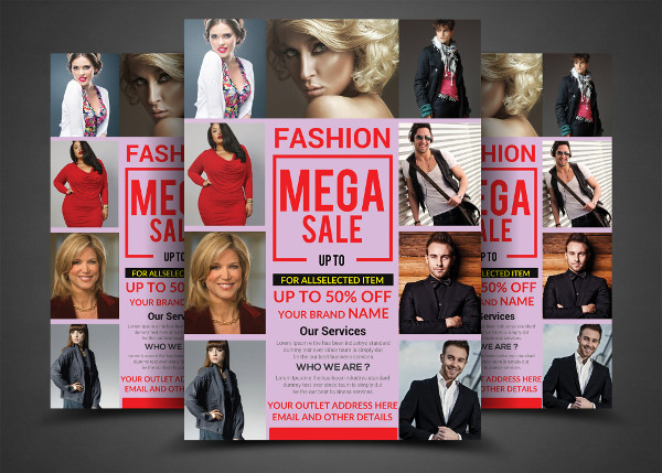 Fully Editable Fashion Sales Flyers