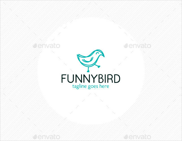 Fully Editable Funny Bird Logo Template