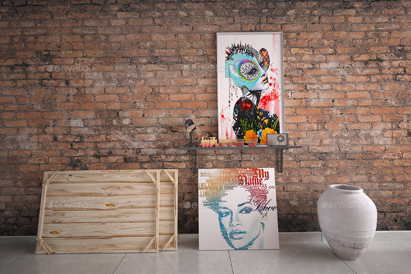 Fully Editable Painting Gallery Mockup