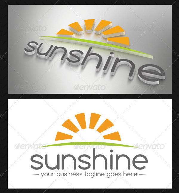Fully Editable Sun Logo Template