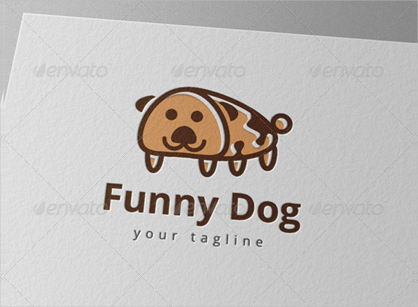 Funny Pet Dog Logo Template