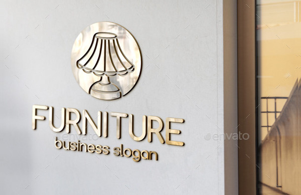 Desk Lamp Logo Template for Furniture Business