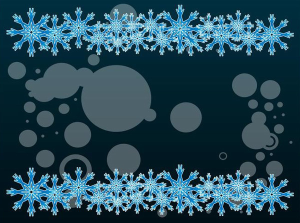 Decorative Winter Background Free Download