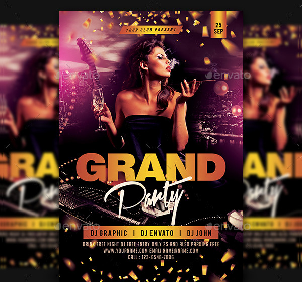 Grand Opening Night Club Party Flyer