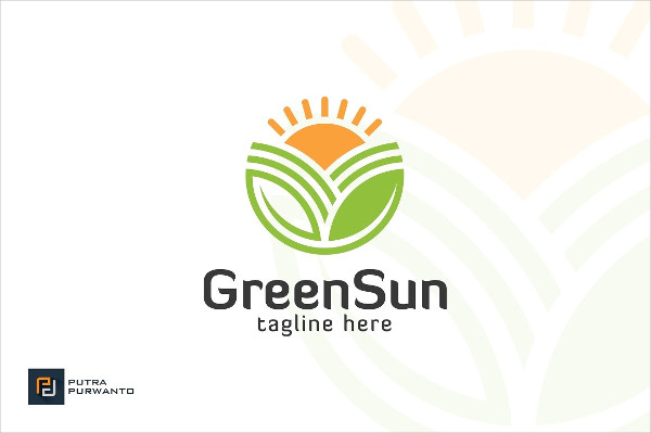 Green Sun Farm Logo Template