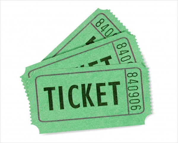 Green Raffle Tickets Free Download
