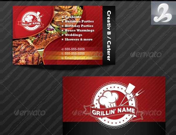Griller's Catering Business Cards