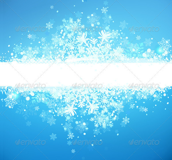 Grunge Winter Background Vector