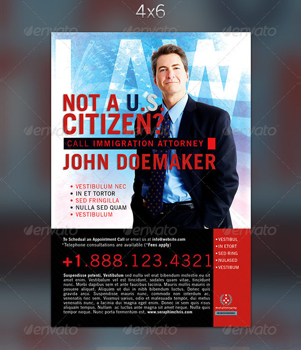 Immigration Law Flyer Templates