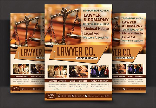 Judge Law Firm Flyer