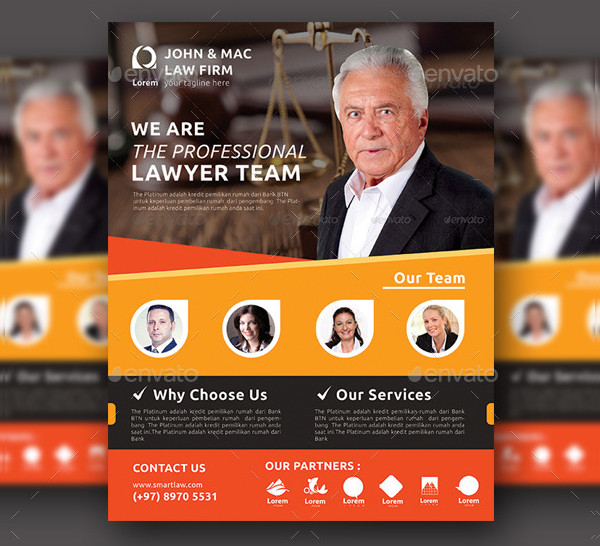 Professional Law Firm Flyer Template