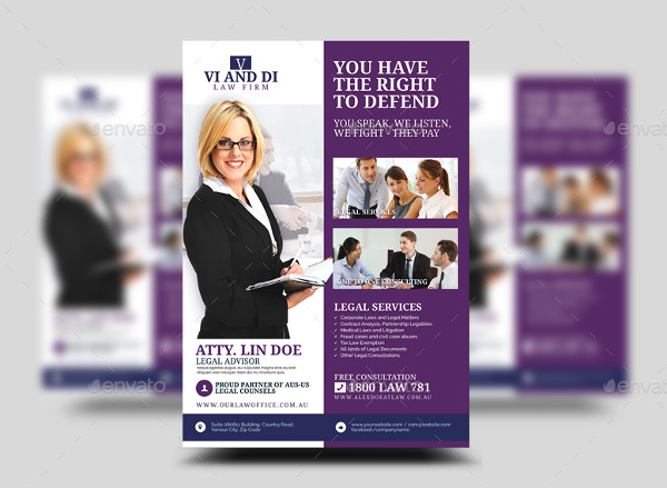 Law Firm Promotional Flyer Template