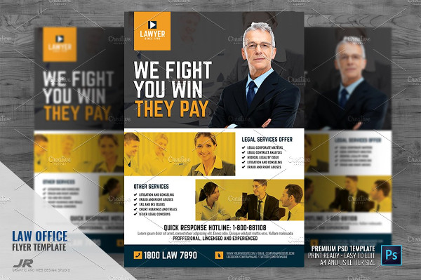 Law Firm and Law Office Flyer