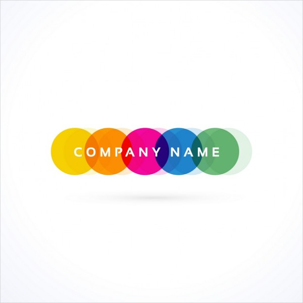 Logo with Colored Circles Free Vector