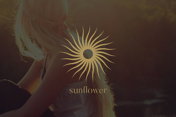 Luxury Sunflower Logo Design