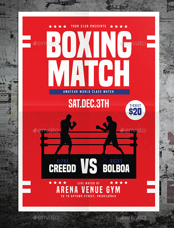 Modern Boxing Match Flyer Template