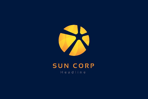Modern Sun Corporation Logo Design