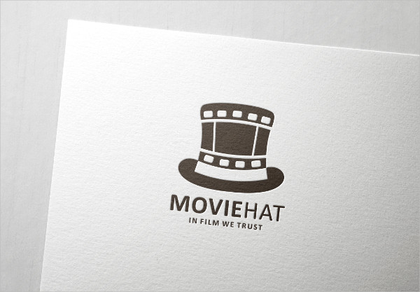 Movie Hat Logo Template